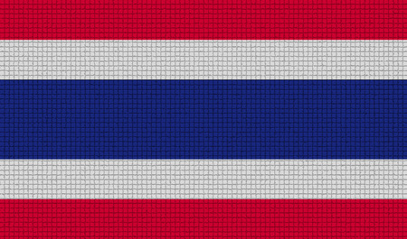 rasterized: Flags of Thailand with abstract textures. Rasterized version