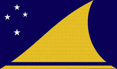 rasterized: Flags of Tokelau with abstract textures. Rasterized version