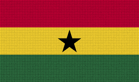 proportional: Flags of Ghana with abstract textures. Rasterized version Stock Photo