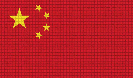 rasterized: Flags of China with abstract textures. Rasterized version