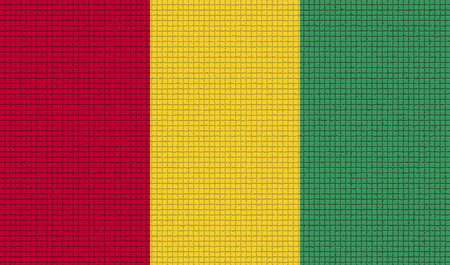 guinea bissau: Flags of Guinea with abstract textures. Rasterized version Stock Photo