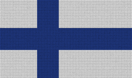 rasterized: Flags of Finland with abstract textures. Rasterized version Stock Photo