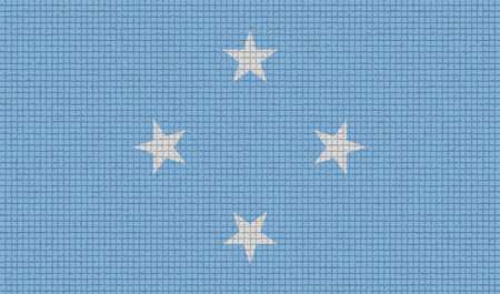 micronesia: Flags of Micronesia with abstract textures. Rasterized version