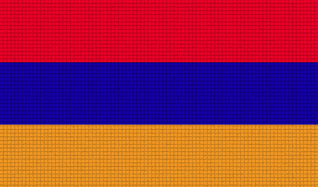 rasterized: Flags of Armenia with abstract textures. Rasterized version
