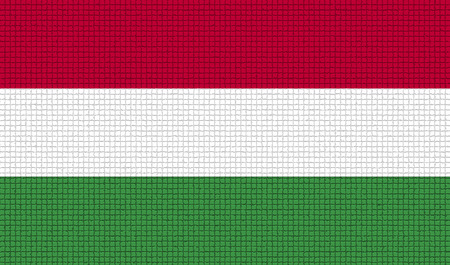 rasterized: Flags of Hugary with abstract textures. Rasterized version Stock Photo