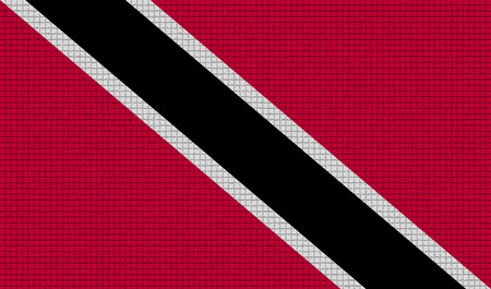 rasterized: Flags of Trinidad and Tobago with abstract textures. Rasterized version