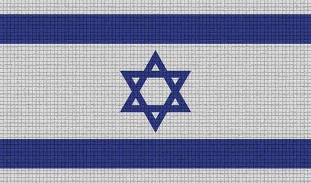 israeli: Flags of Israel with abstract textures. Rasterized version
