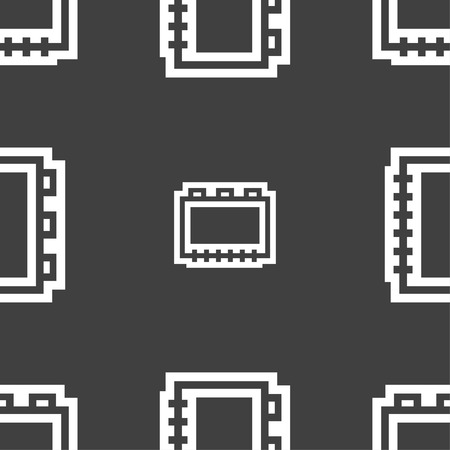 epublishing: Book icon sign. Seamless pattern on a gray background. Vector illustration Illustration
