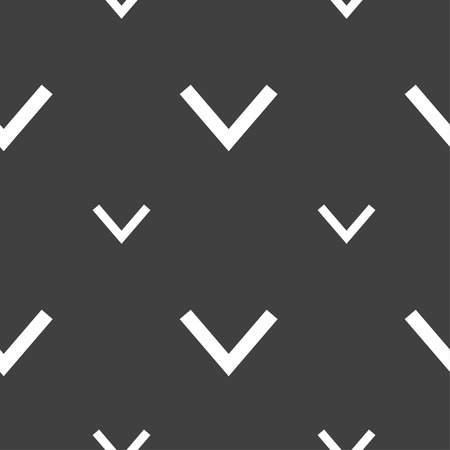down load: Arrow down, Download, Load, Backup icon sign. Seamless pattern on a gray background. Vector illustration