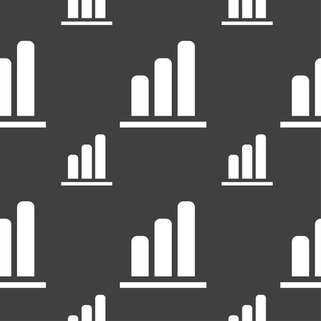 mortgage rates: Growth and development concept. graph of Rate icon sign. Seamless pattern on a gray background. Vector illustration Illustration