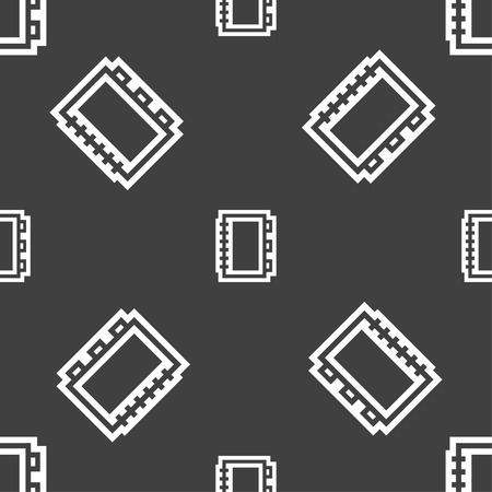 videobook: Book icon sign. Seamless pattern on a gray background. Vector illustration Illustration