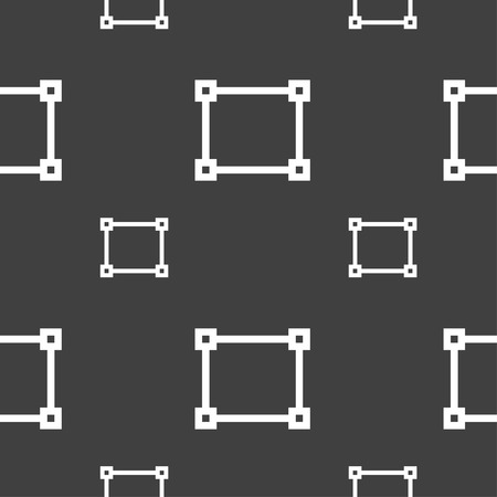 marks: Crops and Registration Marks icon sign. Seamless pattern on a gray background. Vector illustration Illustration
