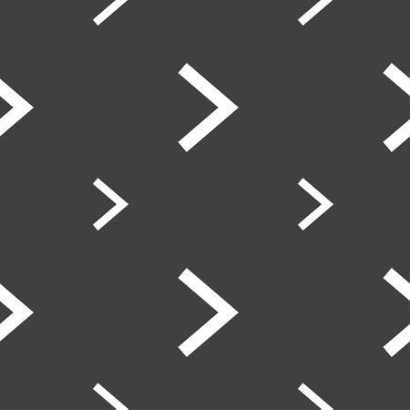 next icon: Arrow right, Next icon sign. Seamless pattern on a gray background. Vector illustration Illustration