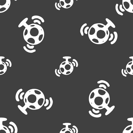 mirror ball: mirror ball disco icon sign. Seamless pattern on a gray background. Vector illustration
