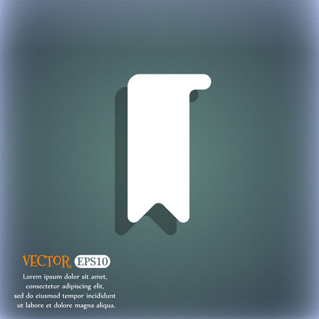 read magazine: bookmark icon symbol on the blue-green abstract background with shadow and space Illustration