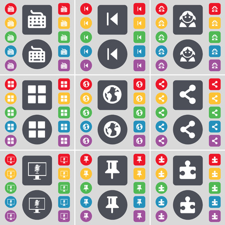 Keyboard Media Skip Avatar Apps Earth Share Monitor Pin