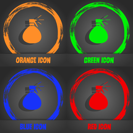 humidity: plastic spray of water icon sign. Fashionable modern style. In the orange, green, blue, red design. Vector illustration