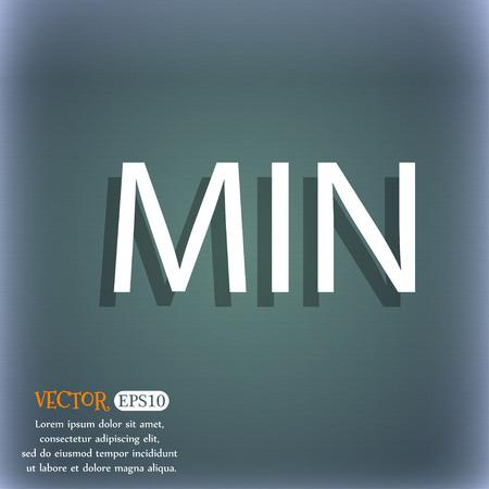 minimální: Minimální ikona znamení. V modro-zelená abstraktní pozadí se stínem a prostor pro váš text. Vektorové ilustrace