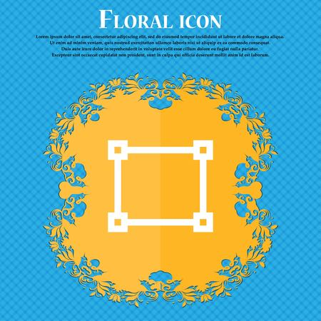 registration mark: Crops and Registration Marks . Floral flat design on a blue abstract background with place for your text. Vector illustration Illustration