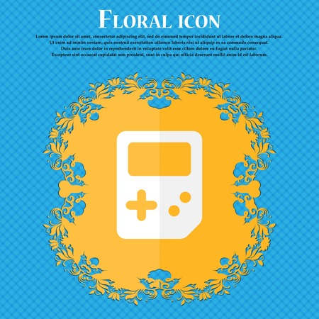tetris: Tetris . Floral flat design on a blue abstract background with place for your text. Vector illustration