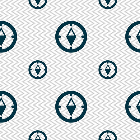windrose: Compass sign icon. Windrose navigation symbol. Seamless pattern with geometric texture. Vector illustration