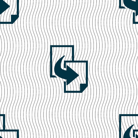 duplicate: Copy file sign icon. Duplicate document symbol. Seamless pattern with geometric texture. Vector illustration