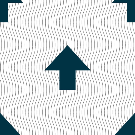 this side up: This side up sign icon. Fragile package symbol. Seamless pattern with geometric texture. Vector illustration