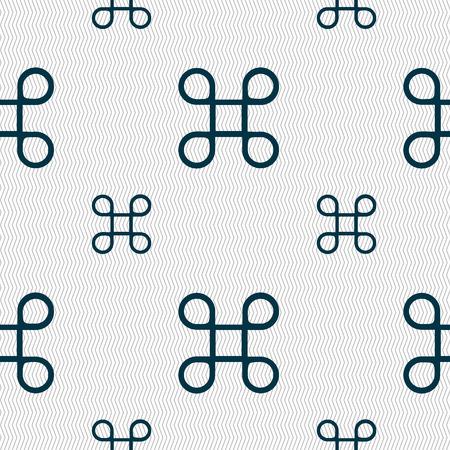 maestro: Keyboard Maestro icon. Seamless pattern with geometric texture. Vector illustration