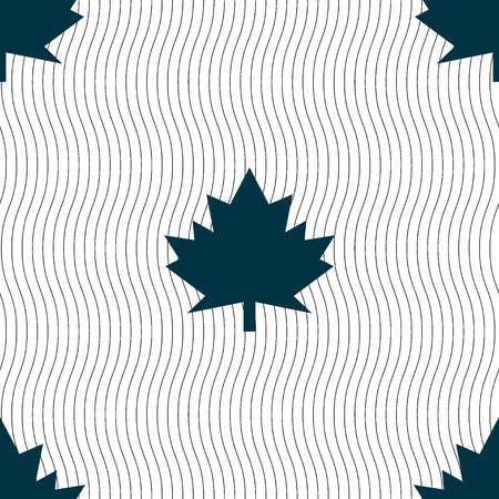 canadian state flag: Maple leaf icon. Seamless pattern with geometric texture. Vector illustration Illustration