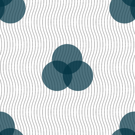 intersect: Color scheme icon sign. Seamless pattern with geometric texture. Vector illustration Illustration