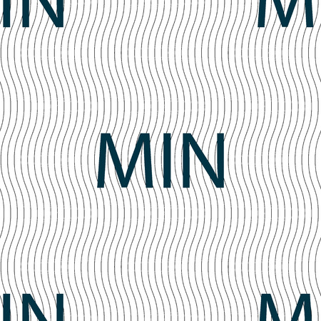 min: minimum sign icon. Seamless pattern with geometric texture. Vector illustration