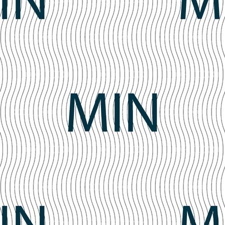 minimum: minimum sign icon. Seamless pattern with geometric texture. Vector illustration