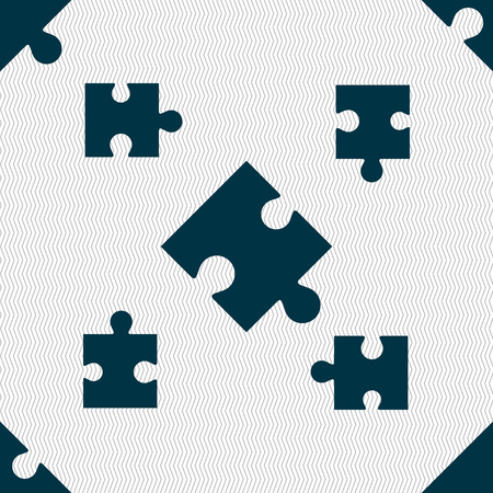 conundrum: Puzzle piece icon sign. Seamless pattern with geometric texture. Vector illustration