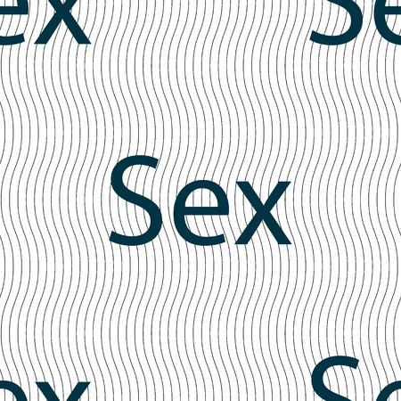artistic nude: Safe love sign icon. Safe sex symbol. Seamless pattern with geometric texture. Vector illustration Illustration