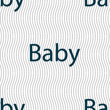 bebe a bordo: Beb� en la Muestra de la tarjeta de iconos. Infantil en s�mbolo de precauci�n coche. Pez�n chupete de beb�. Modelo incons�til con textura geom�trica. Ilustraci�n vectorial