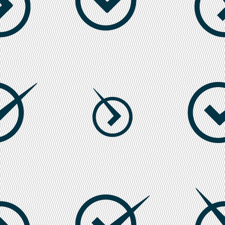 checkbox: Check mark sign icon. Checkbox button. Seamless abstract background with geometric shapes. Vector illustration