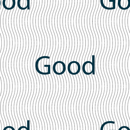 goed teken: Good sign icon. Seamless pattern with geometric texture. Vector illustration