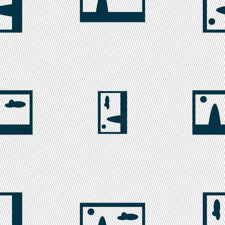 compression: File JPG sign icon. Download image file symbol. Seamless abstract background with geometric shapes. Vector illustration Illustration