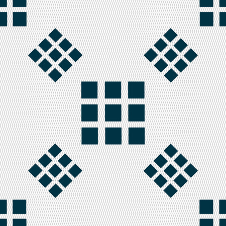 the view option: List sign icon. Content view option symbol. Seamless pattern with geometric texture. Vector illustration