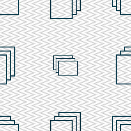 duplicate: Copy file sign icon. Duplicate document symbol. Seamless abstract background with geometric shapes. Vector illustration