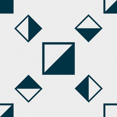 contrast: contrast icon sign. Seamless pattern with geometric texture. Vector illustration