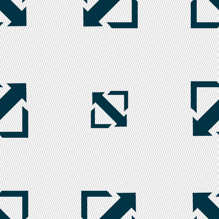full size: Deploying video, screen size icon sign. Seamless abstract background with geometric shapes. Vector illustration