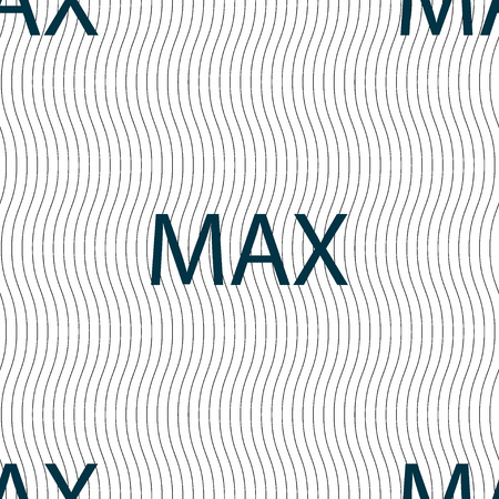 maximum: maximum sign icon. Seamless pattern with geometric texture. Vector illustration