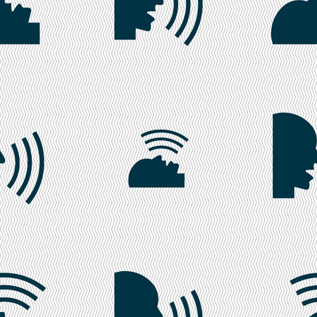 noisily: Talking Flat modern web icon. Seamless abstract background with geometric shapes. Vector illustration