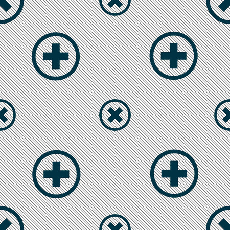 negativity: Cancel icon. no sign. Seamless pattern with geometric texture. Vector illustration Illustration