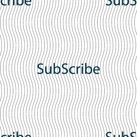 subscribing: Subscribe sign icon. Membership symbol. Website navigation. Seamless pattern with geometric texture. Vector illustration Illustration