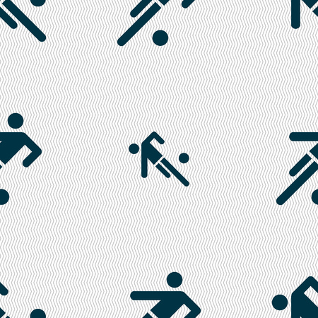 linesman: football player icon. Seamless abstract background with geometric shapes. Vector illustration
