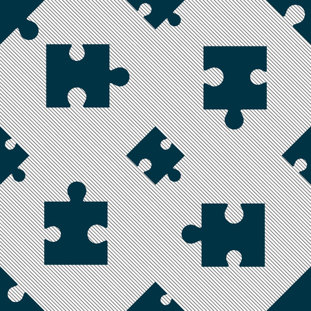 puzzle corners: Puzzle piece icon sign. Seamless pattern with geometric texture. Vector illustration