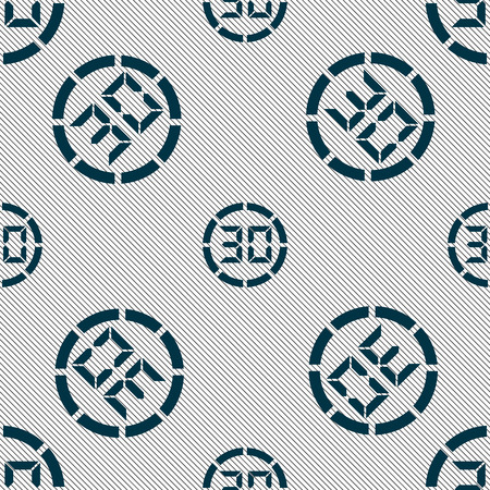 corner clock: 30 second stopwatch icon sign. Seamless pattern with geometric texture. Vector illustration Illustration