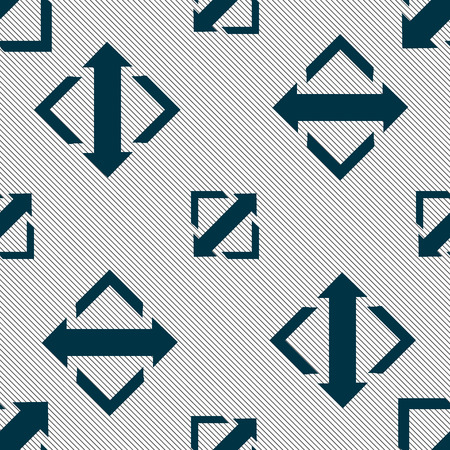 wider: Deploying video, screen size icon sign. Seamless pattern with geometric texture. Vector illustration